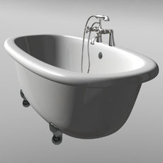 Bath and Shower Set 3D Model