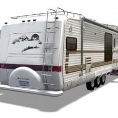 5th Wheel Camper 3D Model