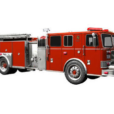 Seagrave Fire Truck 3D Model