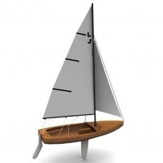 Blue Jay Sailboat 3D Model