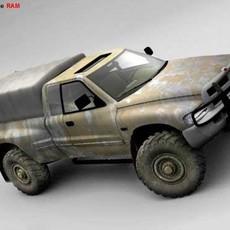 Army Dodge Ram 3D Model