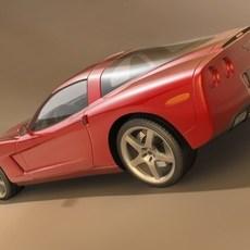 Chevrolet Corvette C6 3D Model