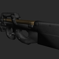 p90 SMG 3D Model