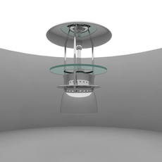 Metall spot with glass ring 3D Model