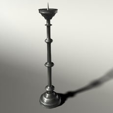 Gothic Candlestick 3D Model