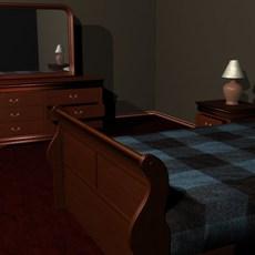 Bedroom Set 3D Model