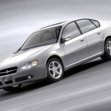 Subaru Legacy Saloon, 2004 3D Model