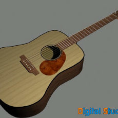 Guitar Martin DR 3D Model