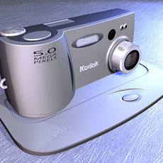 Digital Camera (NURBS versions) 3D Model