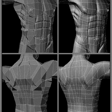Subdivision Modeling of a Human
