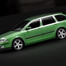 Skoda Octavia 2005 kombi 3D Model
