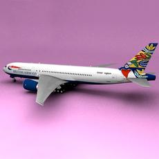Boeing 777 British Airways Sweden 3D Model