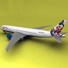 Boeing 777 British Airways Whale Rider 3D Model