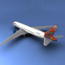 Boeing 777 British Airways Wunala dreaming 3D Model