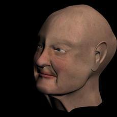 Old Ladys Face 3D Model