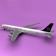 a340-600 Star Alliance 3D Model