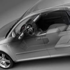 Audi A4 2005 sedan 3D Model