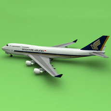 Boeing 747 Singapore 3D Model