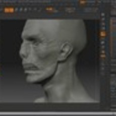 Quick Sculpting a Zombie Face