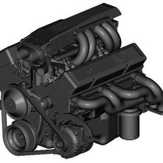 CHEVROLET TUNED-PORT INJECTED ENGINE 3D Model