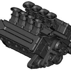 4-CAM V8 ENGINE 3D Model