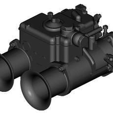 WEBER DCOE CARBURETOR 3D Model