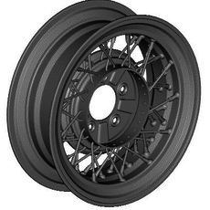EARLY FORD WIRE WHEEL 3D Model