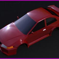 A LOW POLY SPORT CAR 3D Model