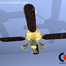 Ceiling Light Fan 3D Model