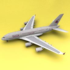 A-380 Qatar 3D Model