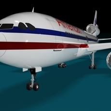 American Airline Plane MD 3D Model