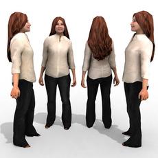 3d Model - Business Female #8a 3D Model