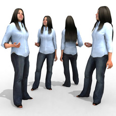 3d Model - Casual Female #11a 3D Model