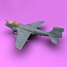EA-6b Low Visible 3D Model