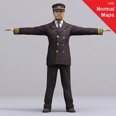 Pilot / Rigged for 3D Max + Character Studio 3D Model