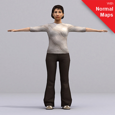 aXYZ design - AWom0005-CS / Rigged for 3D Max + Character Studio 3D Model