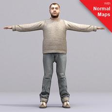 aXYZ design - AMan0004-CS / Rigged for 3D Max + Character Studio 3D Model