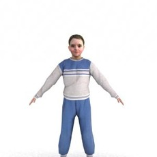 aXYZ design - CGirl0003-CS / Rigged for 3D Max + Character Studio 3D Model