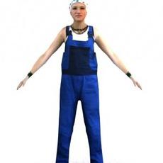aXYZ design - CWom0016-CS / Rigged for 3D Max + Character Studio 3D Model