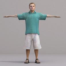 aXYZ design - CMan0018-TP / 3D Human for superior visualizations 3D Model