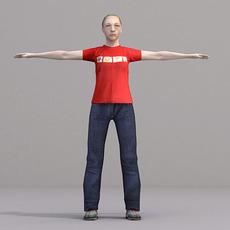 aXYZ design - CWom0021-TP / 3D Human for superior visualizations 3D Model