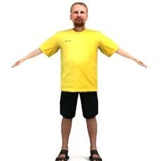 aXYZ design - SMan0002-TP / 3D Human for superior visualizations 3D Model