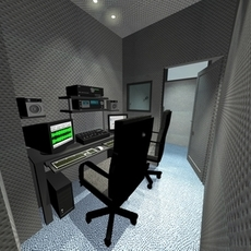 Home recordings studio 3D Model