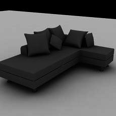 L-shape sofa 3D Model
