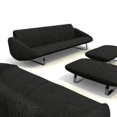 sofa 4 pieces 3D Model