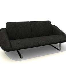 sofa 2places 3D Model