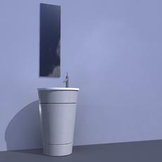 sink anb mirror 3D Model