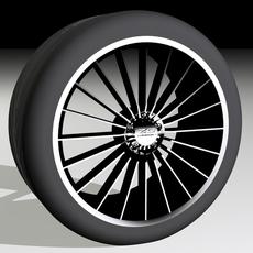 """ZC01 20-spoke 18"""" with 245/30R18 Tyre 3D Model"""