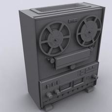 Reel To Reel Player Untextured 3D Model