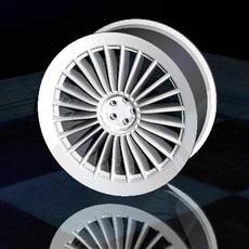 "17"" Spoked Rim 3D Model"